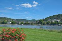 Blick auf Linz am Rhein,Rheinland-Pfalz,Deutschland