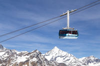 Cable Car in the Swiss Alps