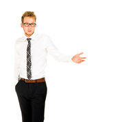 Half length portrait of a smart young businessman