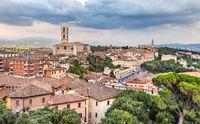 Eveninig view of Perugia, Italy