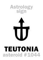 Astrology: asteroid TEUTONIA