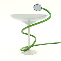 Medicine cup with a Stethoscope with shiny reflection