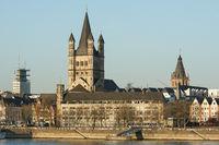 Kirche Groß St. Martin, Köln, Deutschland