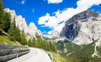 Mountain road in Dolomiti region - Italy
