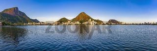 Rodrigo de Freitas lagoon panorama, Rio de Janeiro