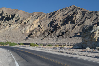 Highway in Death Valley National Park, California