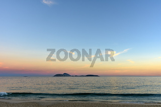 Cagarras islands at Ipanema beach