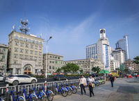 riverside promenade street in central xiamen city china