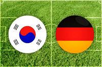 South Korea vs Germany football match