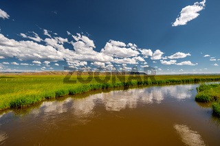 River landscape in Wyoming