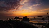 Beautiful Northern California Sunset at the Beach