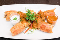 Fried Tiger River Prawn Red Curry Paste Chu Chee Kung