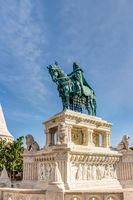 Equestrian statue in Budepest
