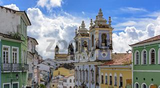 Pelourinho houses, churches and facades