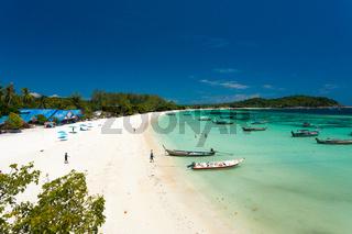 Ko Lipe Thailand Empty Beach Before Tourism