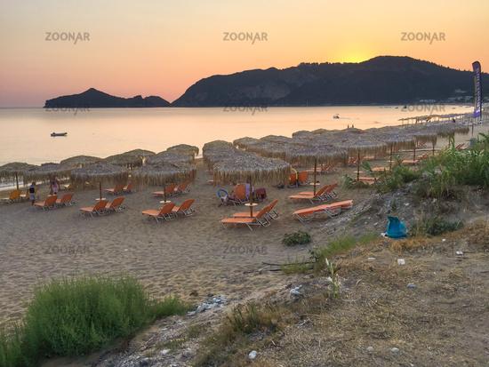 Korfu, Strandpanorama in Agois Georgios Pagi