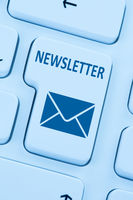 Newsletter senden Internet Business Marketing Kampagne online Brief blau web