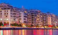 Thessaloniki quay architecture, Greece
