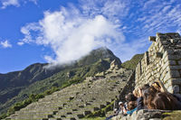 Machu Picchu, Group of tourists, Peru, South America