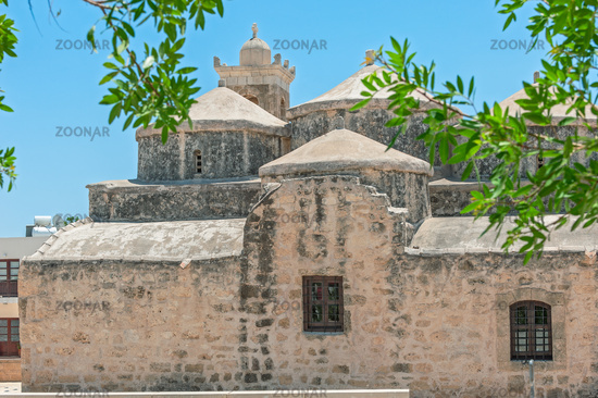 Church with five domes of Agia Paraskevi in Paphos. Cyprus
