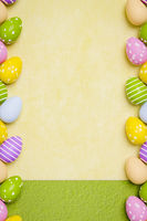 a beautiful colored eggs easter background