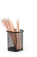 lead pencils in metal pot
