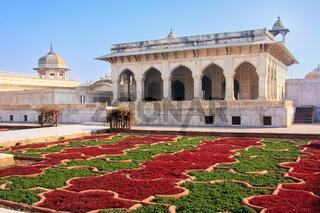 Khas Mahal and Anguri Bagh (Grape Garden) in Agra Fort, Uttar Pradesh, India