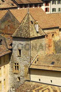 Mauern und Türme, Abtei Romainmotier