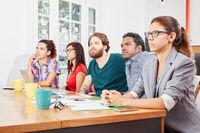 Startup Team bei einer Präsentation