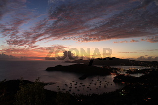 Sunset over English harbour, Antgiua