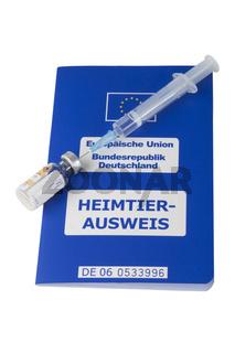 EU-Heimtierausweis mit Impfdosis