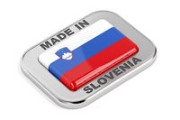 Silver badge, made in Slovenia