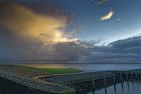 Abendhimmel an der Knock in Ostfriesland