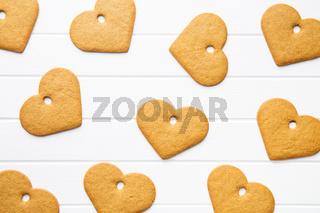 Gingerbread shape heart.