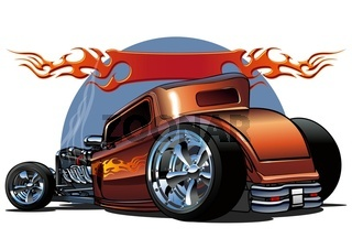 cartoon hotrod