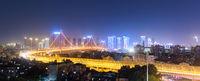wuhan bridge night view