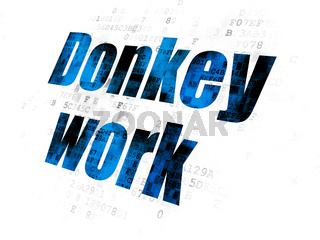 Business concept: Donkey Work on Digital background