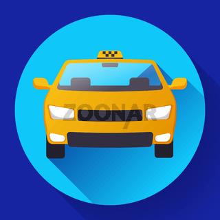 Flat Taxi car icon vector illustration flat design