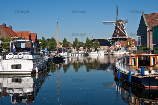 Stadthafen in der niederländischen Stadt Meppel