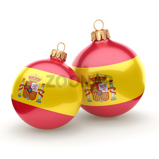 3D rendering Christmas ball with the flag of