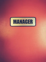 Manager Door Sign