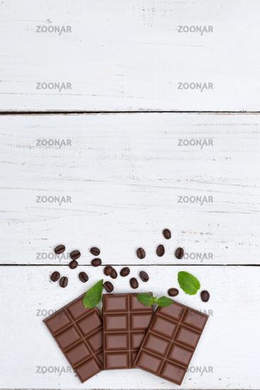 Schokolade Milchschokolade Tafel Süßigkeiten hochkant Essen Textfreiraum von oben