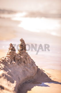 Remains of a sandcastle