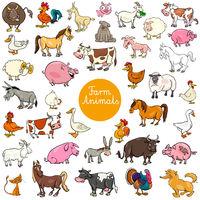 cartoon farm animal characters big set