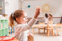 Time to eat in kindergarten