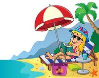 Girl on sunlounger image 4