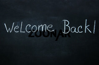 Words written in chalk on blackboard