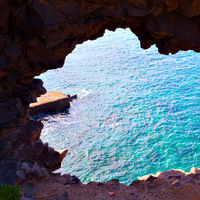 Natural arch inTenerife