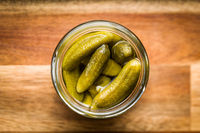 Pickles. Preserved cucumbers.