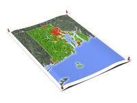 Rhode Island on unfolded map sheet.
